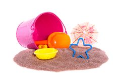 Colorful Plastic Beach Toys Stock Image