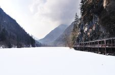 Frozen Lake, Jiuzhaigou National Park, China Stock Images