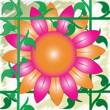Retro 70 S Flower Stock Photo