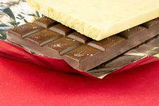 Free A White And Dark Chocolate Is In Foil Stock Photo - 18966580