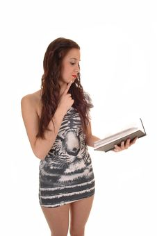 Girl Reading. Stock Images
