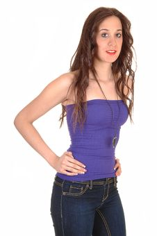 Free Girl In Jeans. Royalty Free Stock Photography - 18967067