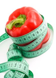 Free Bulgarian Pepper And Centimeter Royalty Free Stock Photos - 18967598