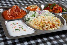Free Veggie Thali Combo Stock Images - 18967634