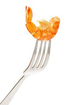 Free Shrimp On Fork Royalty Free Stock Photography - 18967937