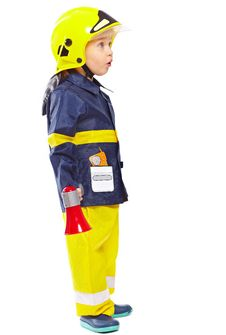 Free Cute Boy In Fireman Costume Stock Photography - 18968952