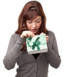 Free Woman With A Present Stock Photo - 18969450