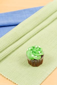 Green Frosting Cupcake