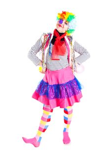 Free Girl In Bright Carnival Costumes Royalty Free Stock Photography - 18969727
