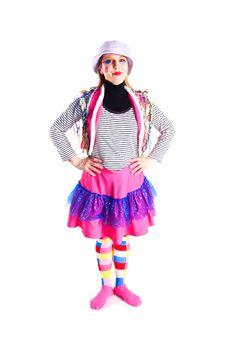 A Girl In A Bright Dress Sailor Stock Photos