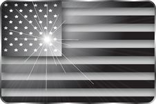 Free Black And White American Flag Royalty Free Stock Photo - 18969755