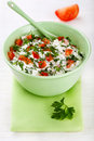 Free Bowl Of Curd With Tomato And Parsley Royalty Free Stock Images - 18970629