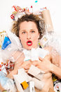 Free Rubbish Poured On Woman Stock Images - 18971714