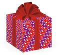 Free Vector Of Present In Pink Box With Heart Pattern Stock Images - 18972064