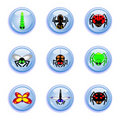 Free Insect Buttons Set Stock Photography - 18972412