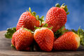 Free Strawberries On Wooden Table Stock Image - 18975181