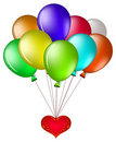 Free Balloons With A Red Heart Stock Image - 18976341