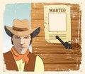 Free Cowboy And Gun. Grunge Stock Photo - 18976550