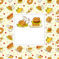 Free Fast Food Restaurant Card Stock Images - 18976724