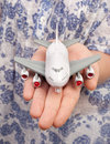 Free Woman Hand With A Small Plane Stock Photos - 18978843