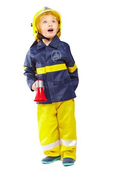 Free Cute Boy In Fireman Costume Royalty Free Stock Image - 18970596