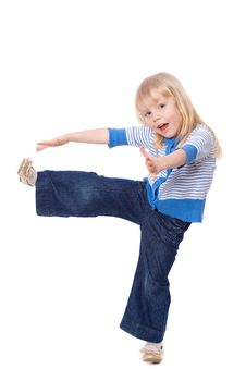 Free Cute Little Girl Stretching Stock Photos - 18970923