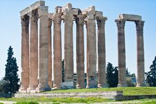 Temple Of Zeus Royalty Free Stock Photography