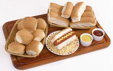 Free Hot Dog An Bun Baskets Royalty Free Stock Photo - 18971105
