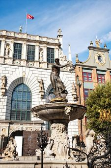 Free Neptune S Fountain In Gdansk, Poland Stock Images - 18971184