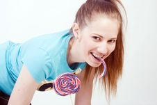 Free Girl With A Lollipop Stock Photos - 18971433