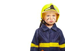 Free Nice Little Boy In Fireman Costume Royalty Free Stock Photography - 18971507