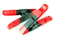 Free Two A-clamps Stock Photography - 18971592