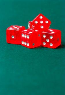 Free Poker Dice On Playmat Royalty Free Stock Photo - 18971825