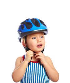 Free Little Boy In A Protective Helmet Stock Photography - 18971852