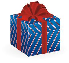 Free Vector Of Present In Blue Strip Box Stock Photos - 18972063