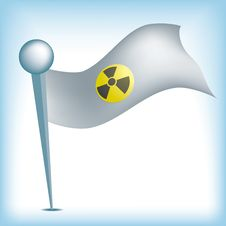 Free Nuclear Flag Royalty Free Stock Images - 18972189