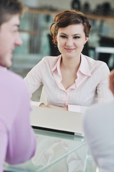 Free Young Business Woman On Meeting Royalty Free Stock Image - 18972776