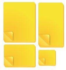 Free Yellow Note Stick Royalty Free Stock Photos - 18972848