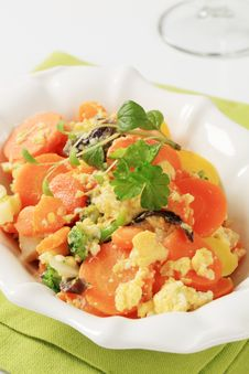 Free Mixed Vegetables And Scrambled Egg Stock Photography - 18973212