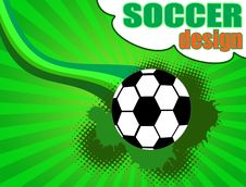 Free Soccer Poster Royalty Free Stock Photo - 18973215