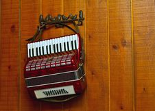 Decorative Accordion On A Wall Royalty Free Stock Photos