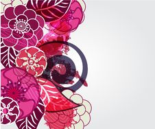 Free Background With Flowers Royalty Free Stock Photos - 18973778