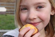 Free Enjoying A Muffin Stock Photo - 18974010