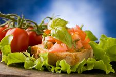 Free Bruschetta - Appetizer Royalty Free Stock Photography - 18974647