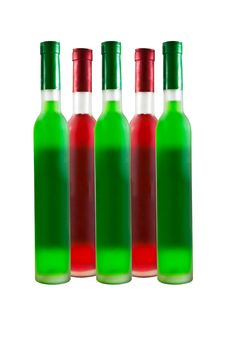 Free Green And Red Wine Bottle Stock Photo - 18974650