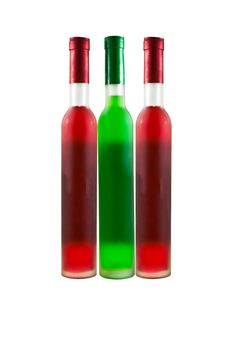 Free Green And Red Wine Bottle Stock Photos - 18974653