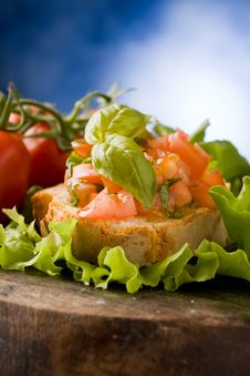 Free Bruschetta - Appetizer Stock Images - 18974654