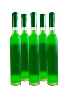 Free Green Wine Bottle Royalty Free Stock Photography - 18974657