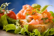 Free Bruschetta - Appetizer Royalty Free Stock Photography - 18974727