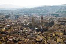 Florence From The Bell Tower Royalty Free Stock Photo